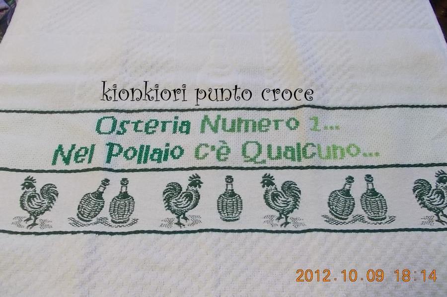 Kionkiori punto croce strofinacci da cucina - Strofinacci da cucina ...