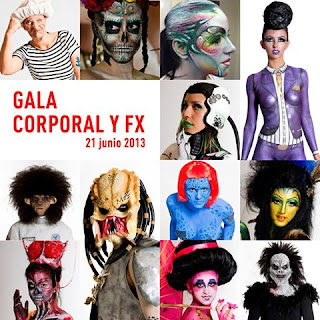 Gala de Maquillaje Corporal y FX Cazcarra 21 Junio Barcelona