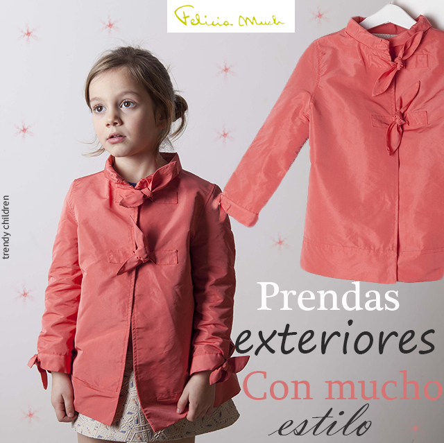 gabardina trench coral felicia much trendy children