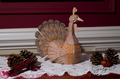 3d folk art turkey