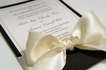 Elegant Black Tie Wedding Invitations