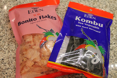 bonita flakes and kombu