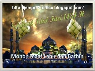 download contoh atau Sample Kartu Ucapan Idul Fitri 2013 atau kartu lebaran 2013 yang dibuat dengan MS Word 2010