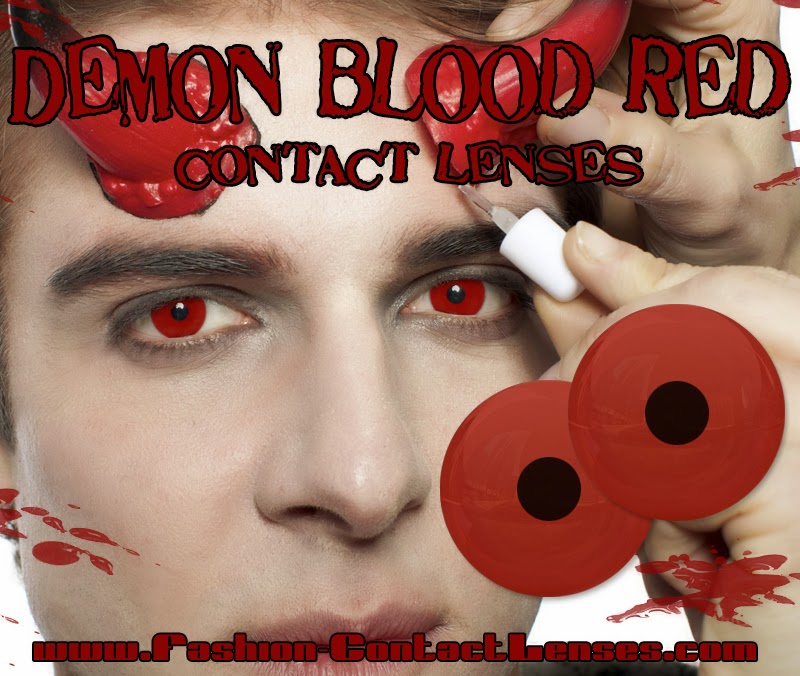 Demon Blood Red Contact Lenses