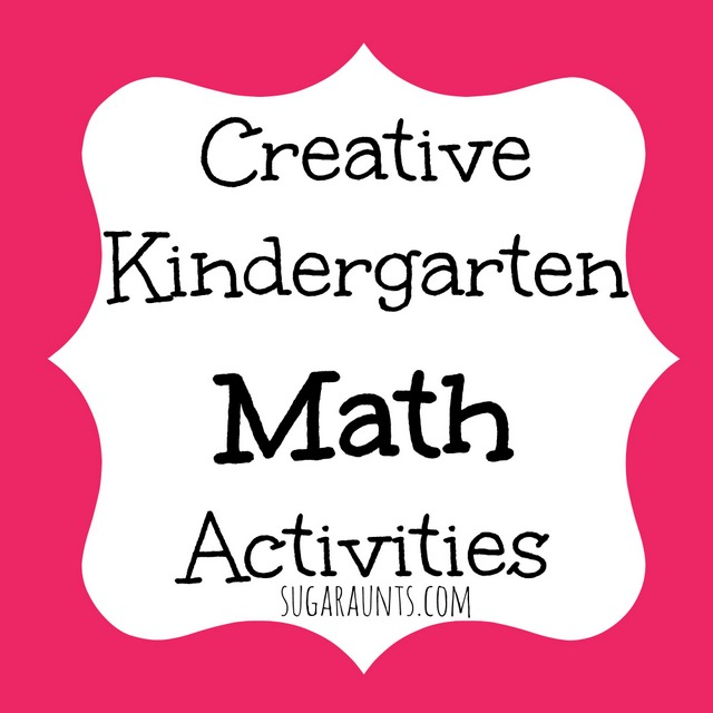 Creative Kindergarten Math ideas