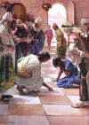 A woman who find herself on the feet of Christ is blessed