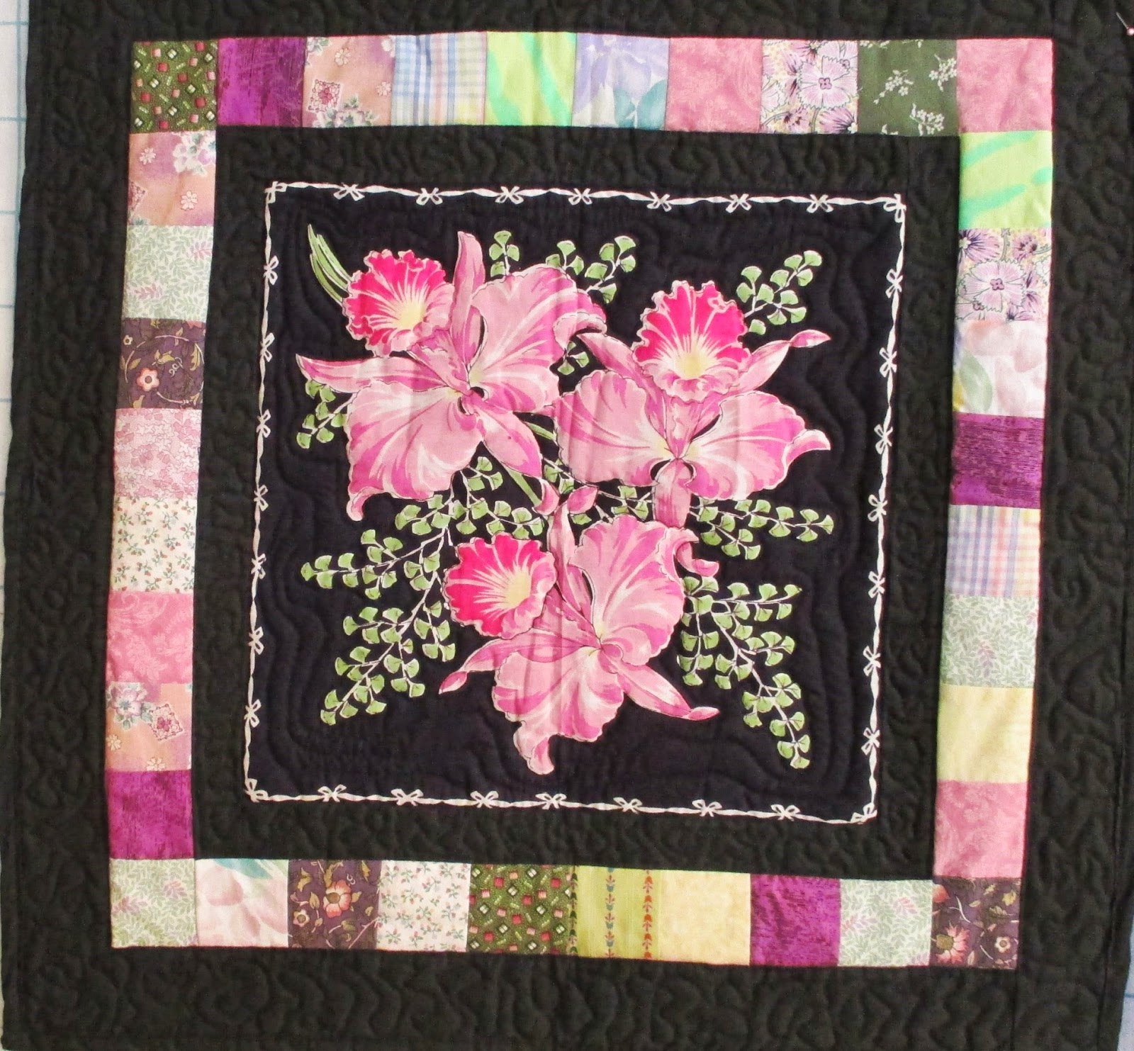 the literate quilter 2014 spring flowers floral handkerchiefs