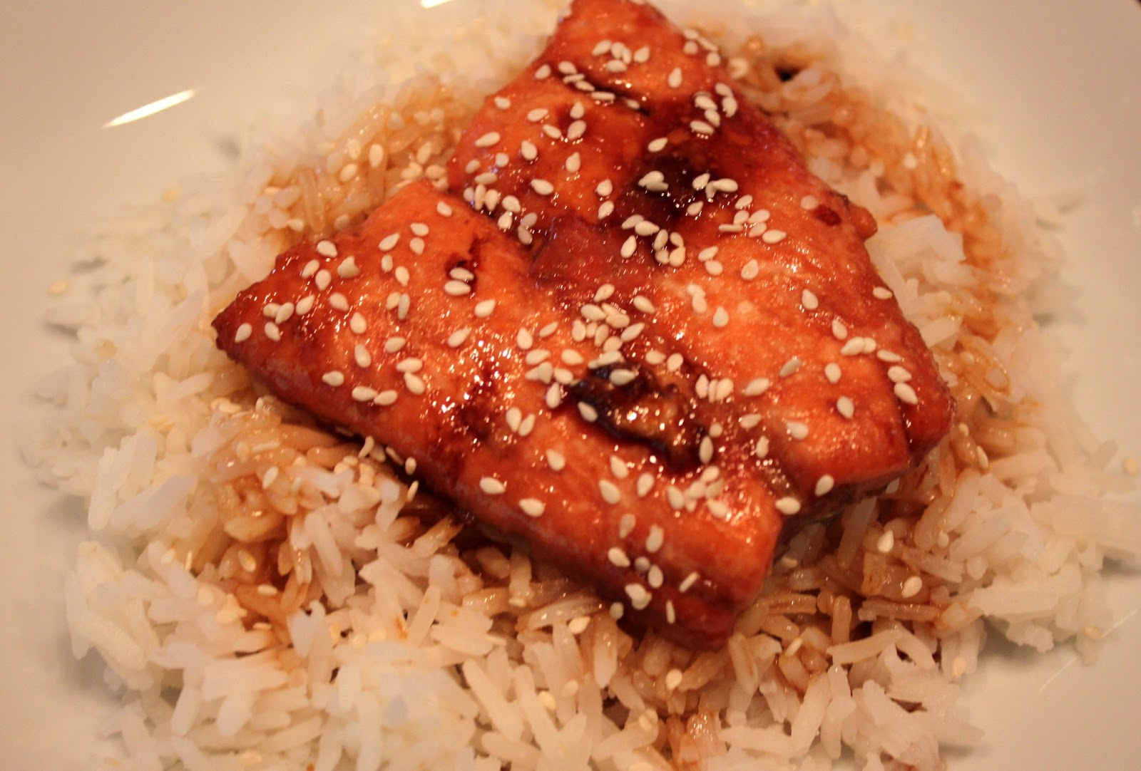 Kelly's Healthified Kitchen: Soy Glazed Salmon