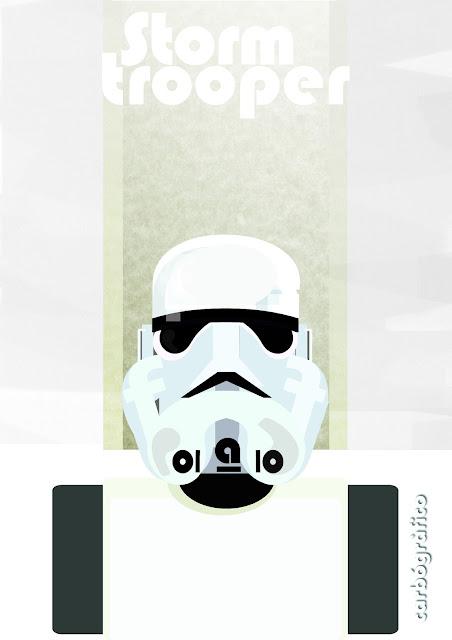 ilustracion en sevilla ,Stormtrooper ,carbografico