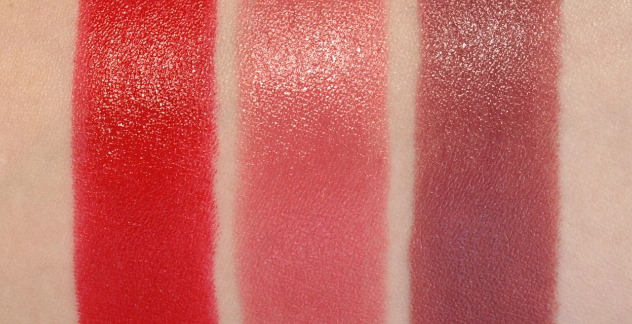 "Rimmel London Moisture Renew Lipsticks in ""505 Red Alert"", ""190 Rose Blush"" & ""240 Tower of Mauve"": Review and Swatches"