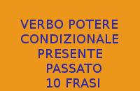 10 SEMPLICI FRASI CON IL CONDIZIONALE PRESENTE E PASSATO DEL VERBO POTERE