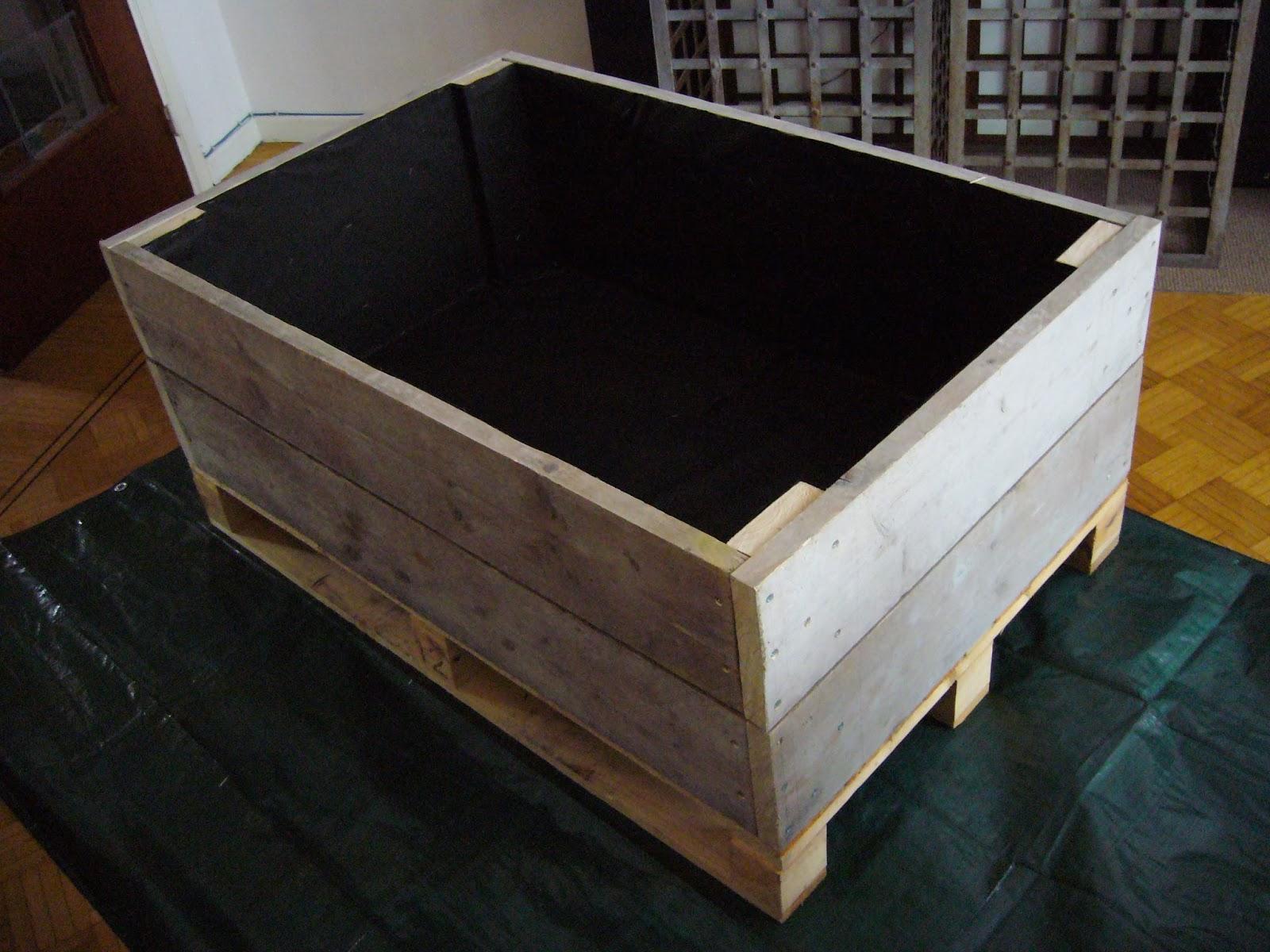 Jardin potager comestible partager avec les moineaux entr e en dormance du bac potager des - Bac a legume en bois ...