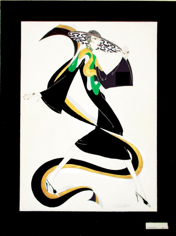 ART: Art Deco inspired graphic art prints by fashion designer Ron ...