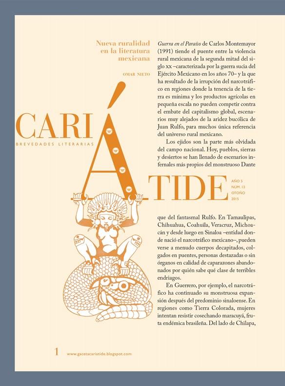 El nuevo número impreso de Gaceta Cariátide Brevedades Literarias