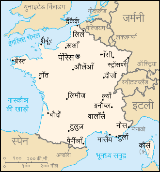 France map in hindi sciox Choice Image