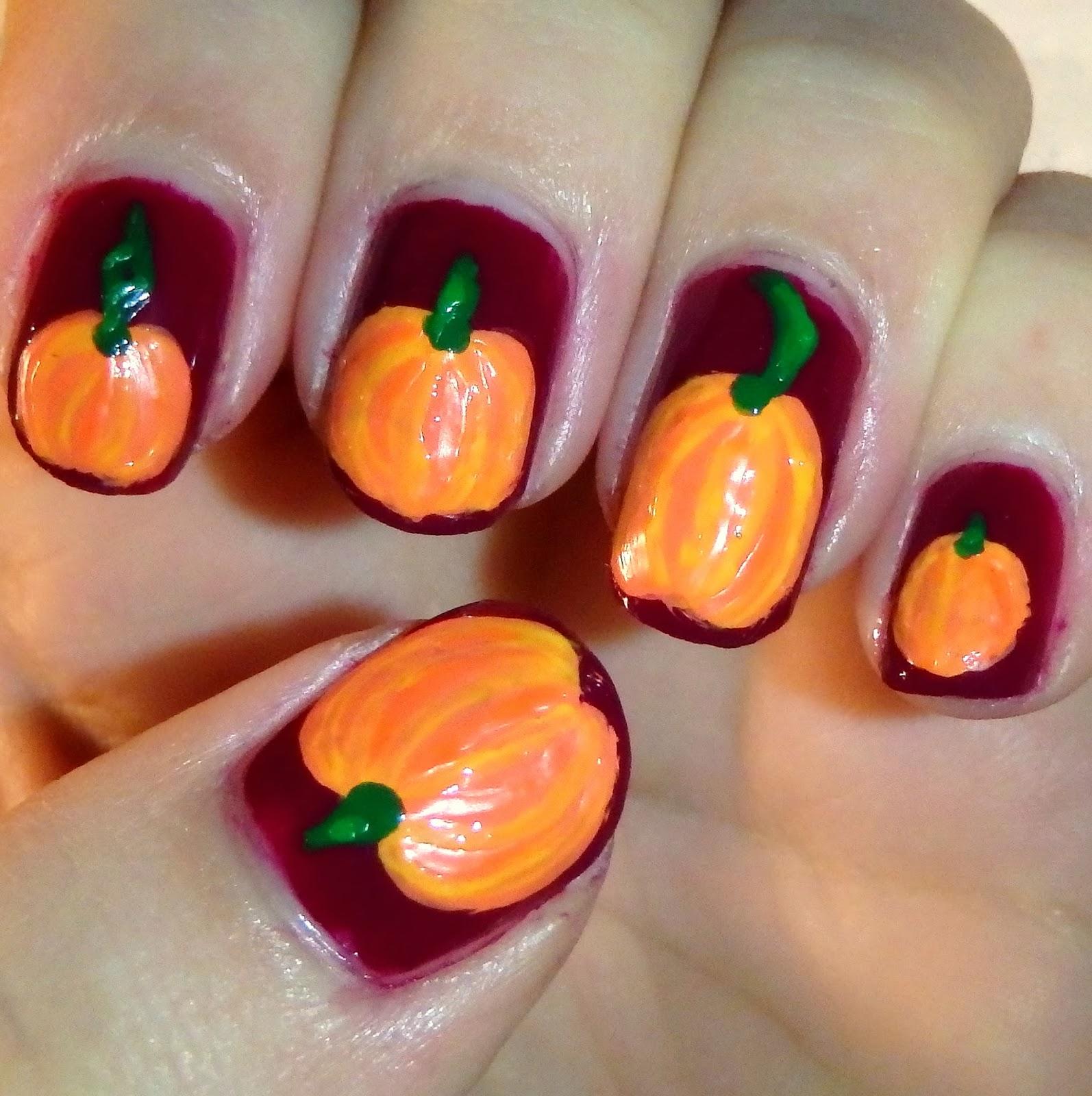 Quixii\'s Nails: 10/20/13 - Pumpkin Jack\'o\'Lanterns