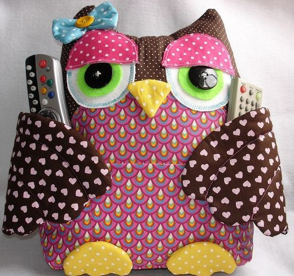 Fabric with Owl Pillow Pattern