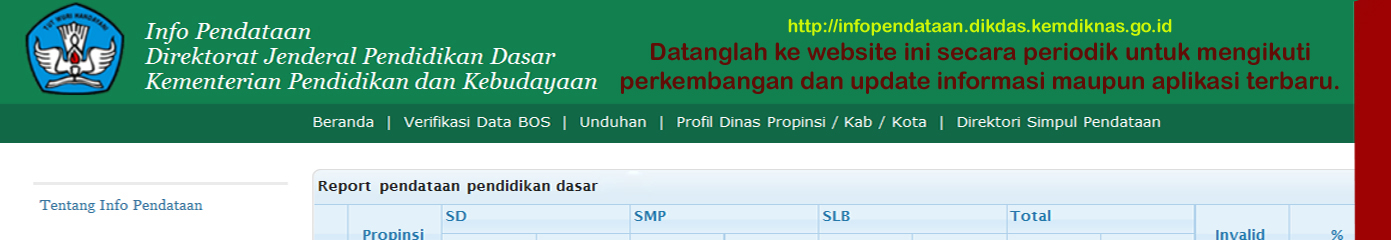 Datanglah ke website ini secara periodik untuk mengikuti perkembangan dan update informasi maupun aplikasi terbaru.