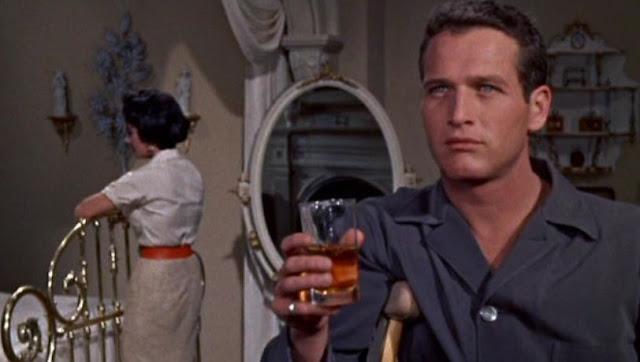 Paul Newman, Liz Taylor y un espejo