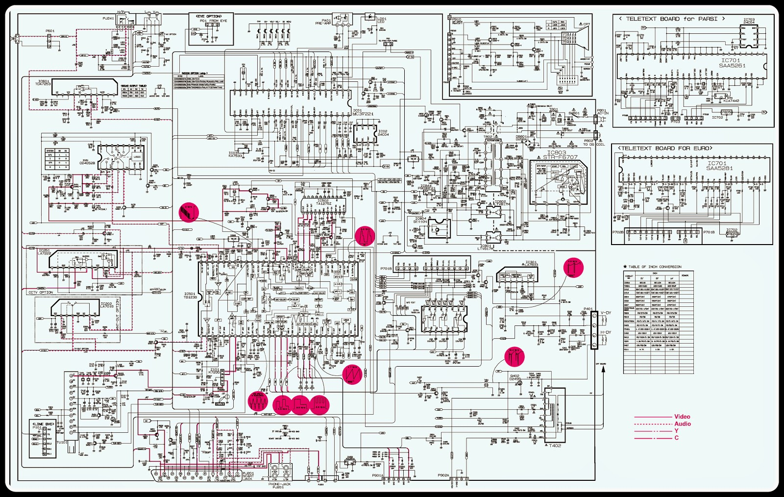 LG CF20F SCHEMATIC CIRCUIT DIAGRAM 20 inch CRT TV – Lg Wiring Diagram