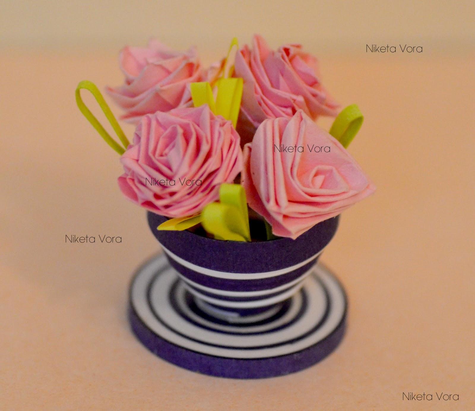 Niketas Creative Corner 3d Paper Quilling Miniature Flower Pots