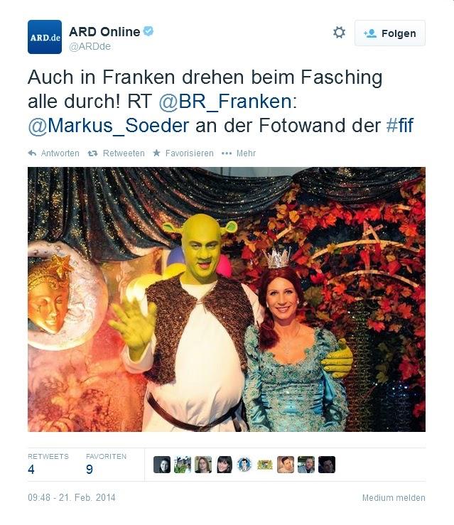Markus Söder als Shrek