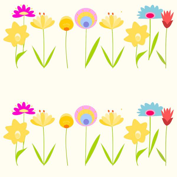 Floral pattern title