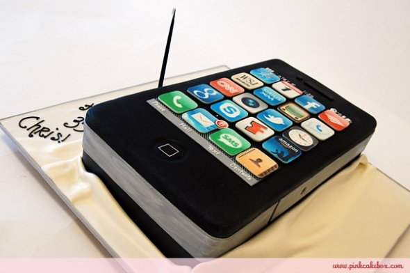 Just Food and Delicious Iphone cake Believe it