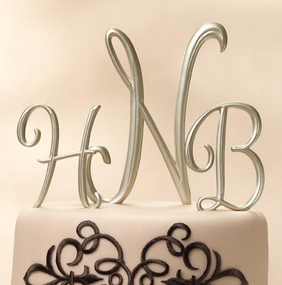 Envy Events: Ta... M Monogram Wedding Cake Toppers