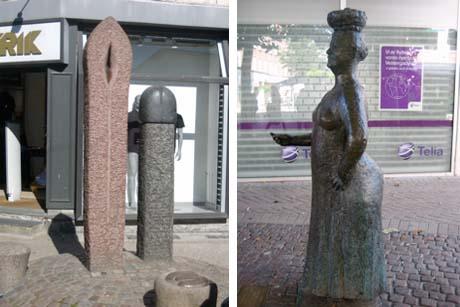 Art Talk - foredrag om kunst. Frede Troelsen: Stoppenålen, 1988, og Hanne Warming: Konen med Æggene, 1997