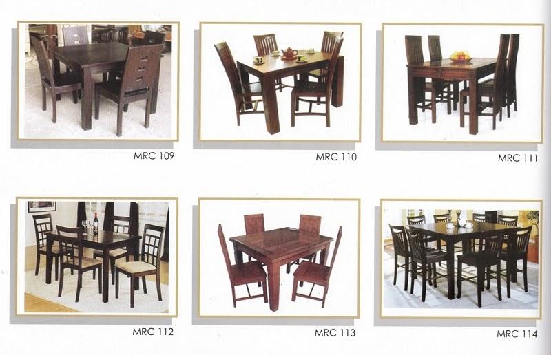 SET MEJA MAKAN MINIMALIS MRC 109 - 114