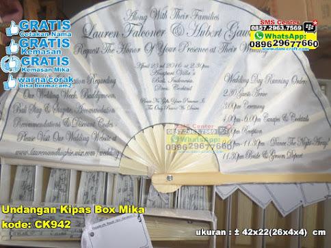 Undangan Kipas Box Mika grosir