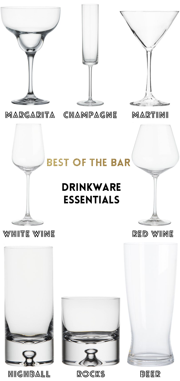 glassware essentials for the bar