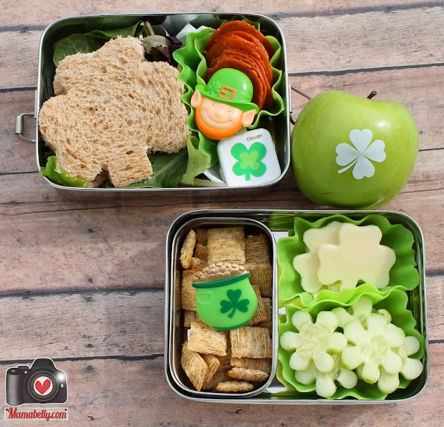 St. Patrick's Day School Lunch in ECOlunchboxes - mamabelly.com