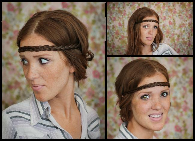 The Freckled Fox: Hair Tutorial// The Hippie Headband