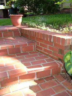 Brick steps with help of diamond blade