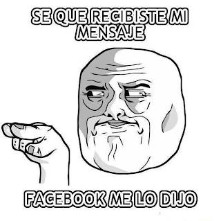 Mensaje visto Facebook