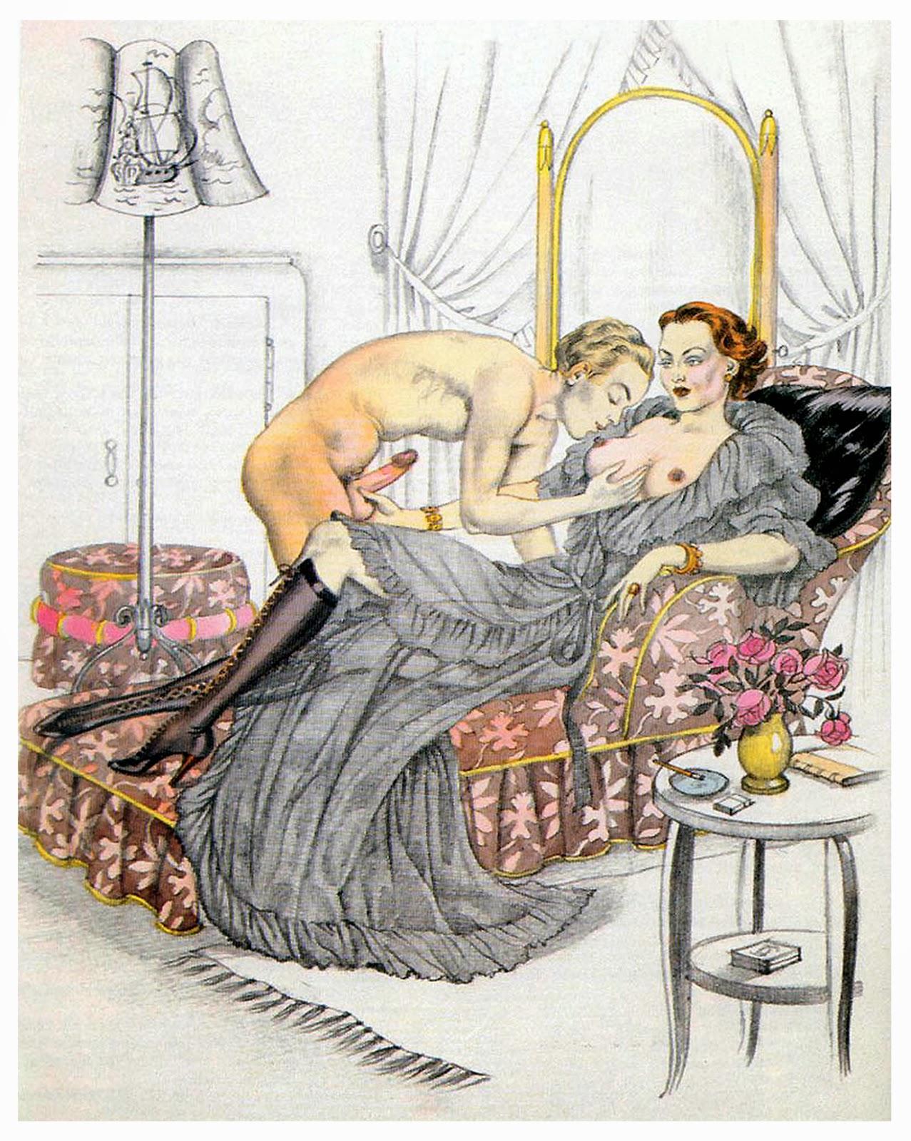 Sex fantasy art 1920s 1930s nudes picture