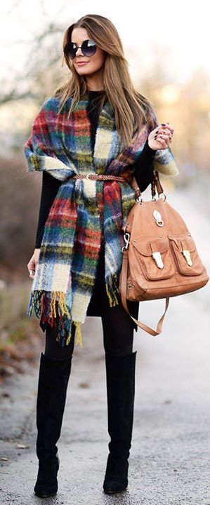 Boho tunic, Belt, Hand Bag, Long Boots, Accessories | Women Fashion