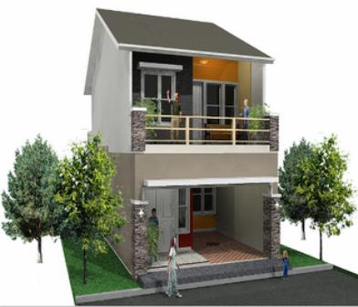 Desain Rumah Minimalis 2 Lantai Lahan Sempit