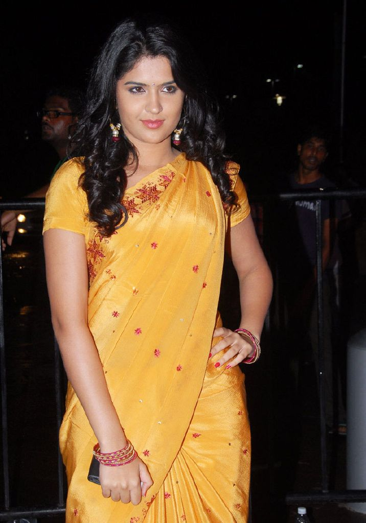 Deeksha Seth in Saree of Yellow Golden - Deeksha Seth in Yellow Golden Saree