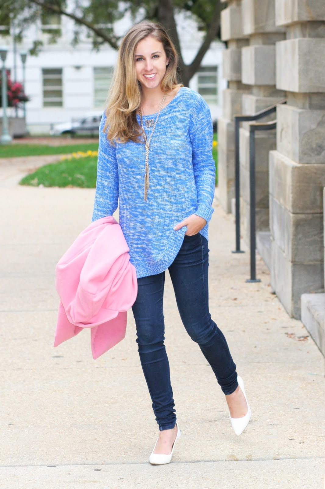 blue-heathered-cozy-sweater-perfect-for-winter-with-pop-of-pink