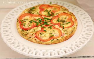 Frittata ziołowa z białym serem