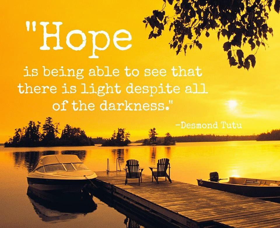 Frase sobre Esperança do Desmond Tutu