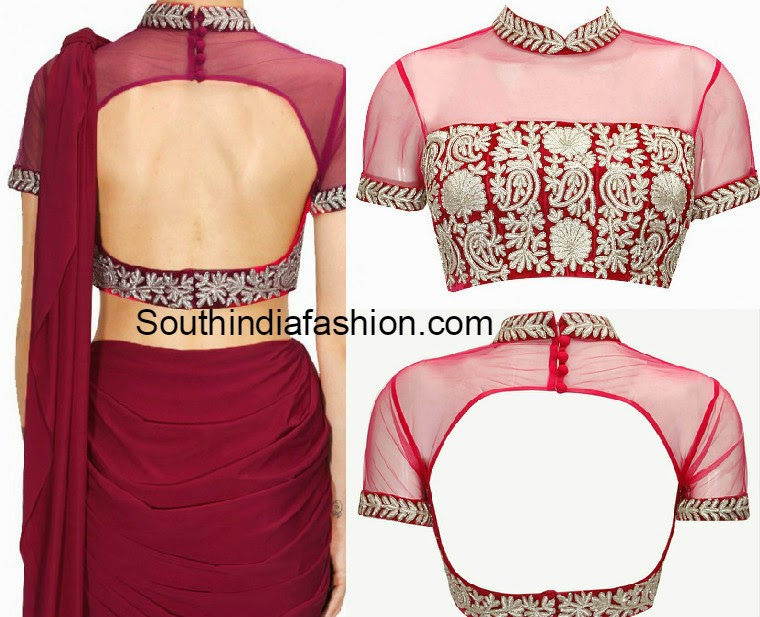 Collar Neck Blouse Fashion Trends South India Fashion