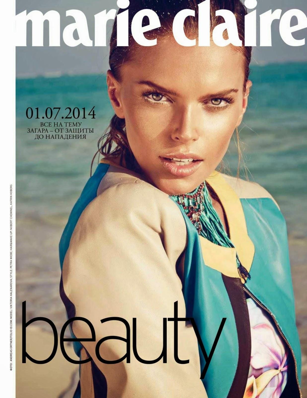 Viktoria Halenarova for Marie Claire Magazine, Russia, July 2014