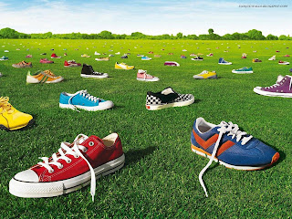 Colorful Shoes HD Wallpaper