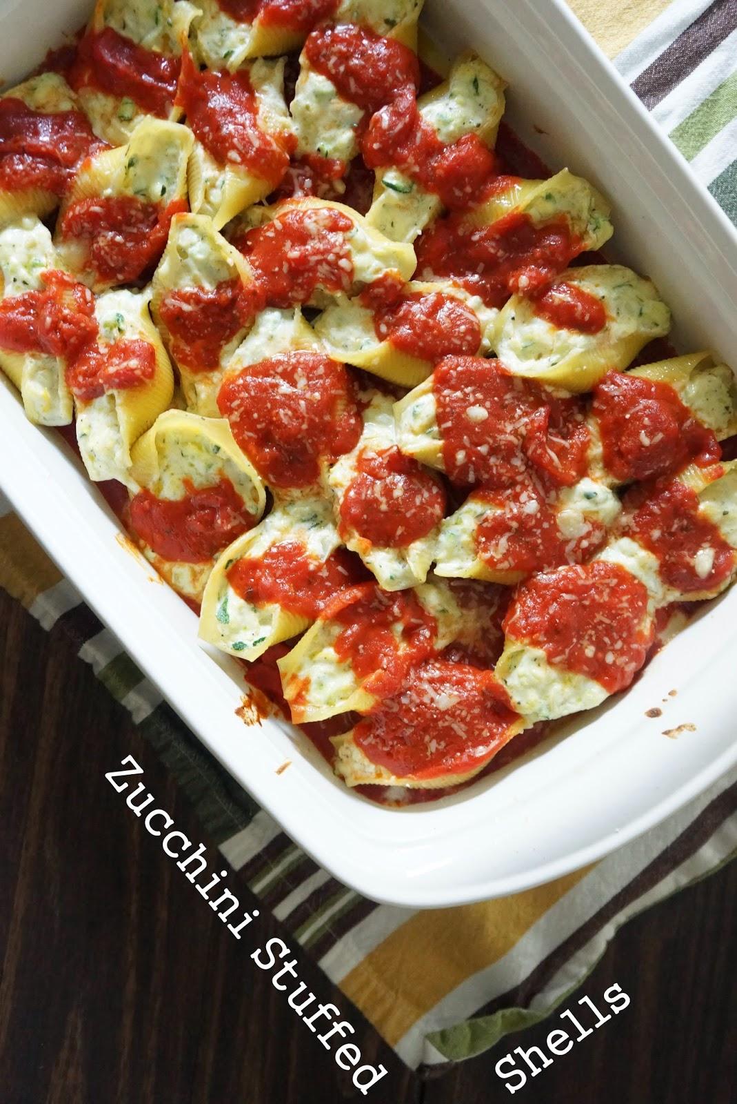 zucchini stuffed shells
