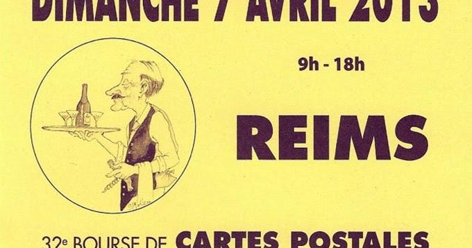 Amicarte 51 reims 32e bourse de carte postales - Carte de visite reims ...
