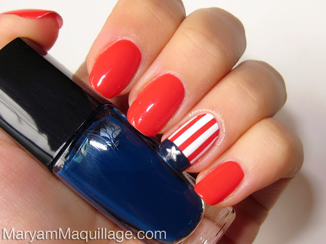 Maryam Maquillage: Americana Nail Art for the Fourth!
